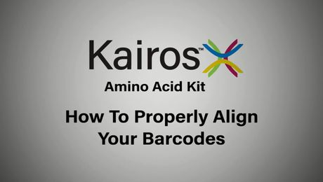 Kairos Amino Acid Kit Tips and Tricks | How to properly align your barcodes
