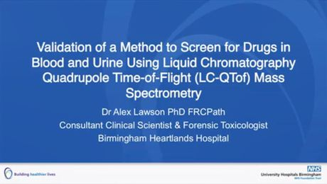 Validation of a Method to Screen for Drugs in Blood and Urine Using Liquid Chromatography Quadrupole Time-of-Flight (LC-QTof) Mass Spectrometry