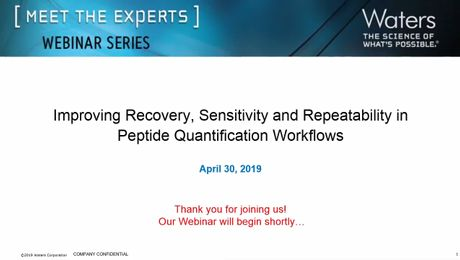 Improving Recovery, Sensitivity, and Repeatability in Peptide Quantification Workflows