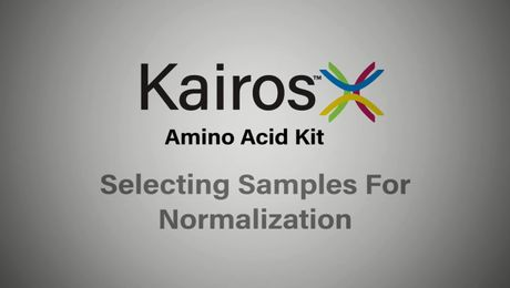 Kairos Amino Acid Kit Tips and Tricks | Selecting samples for normalization