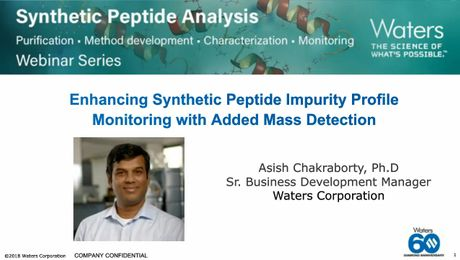On Demand Webinar | Enhancing Synthetic Peptide Impurity Profile Monitoring with Added Mass Detection