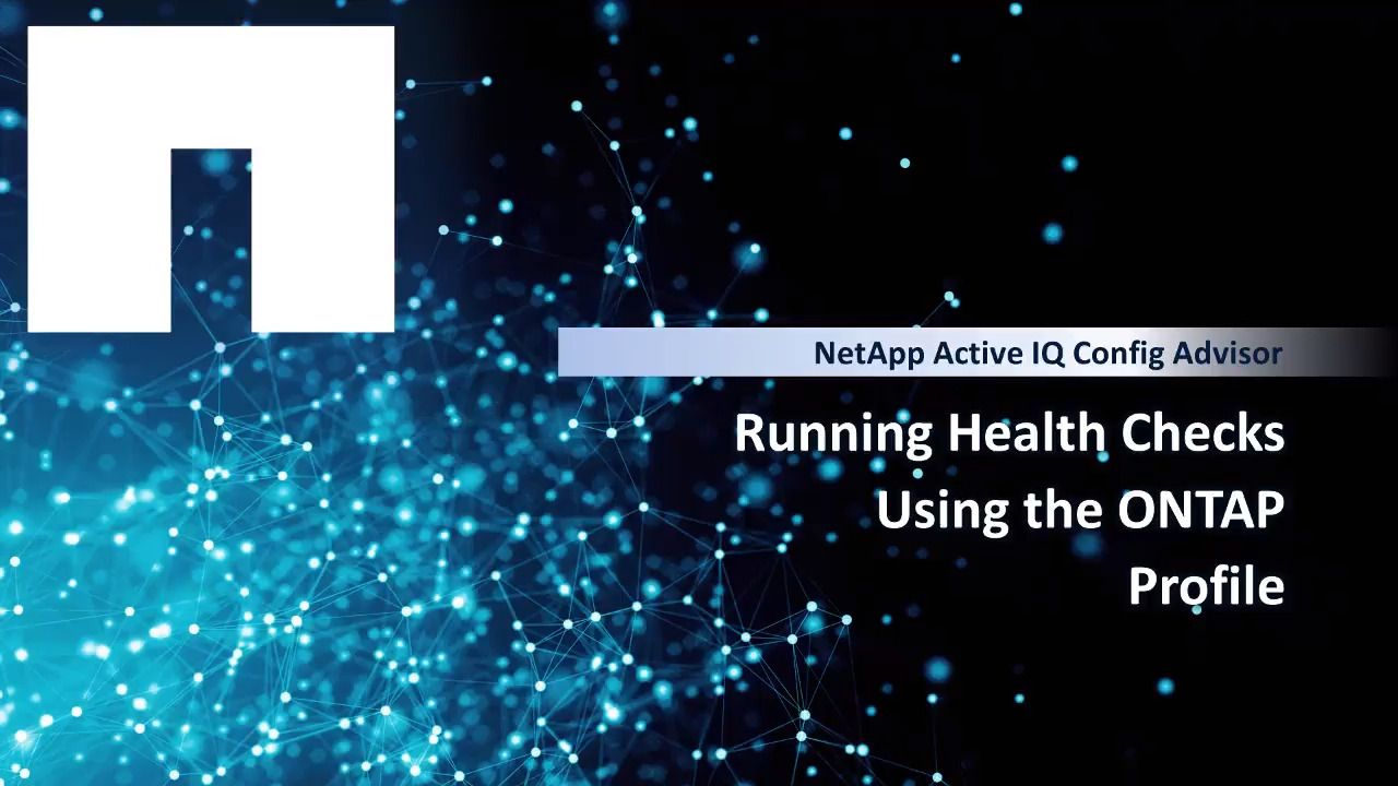 Running Health Checks Using the ONTAP Profile