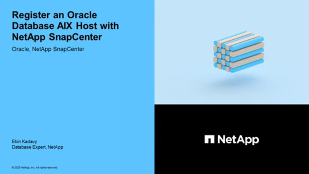 Register an Oracle Database AIX Host with NetApp SnapCenter