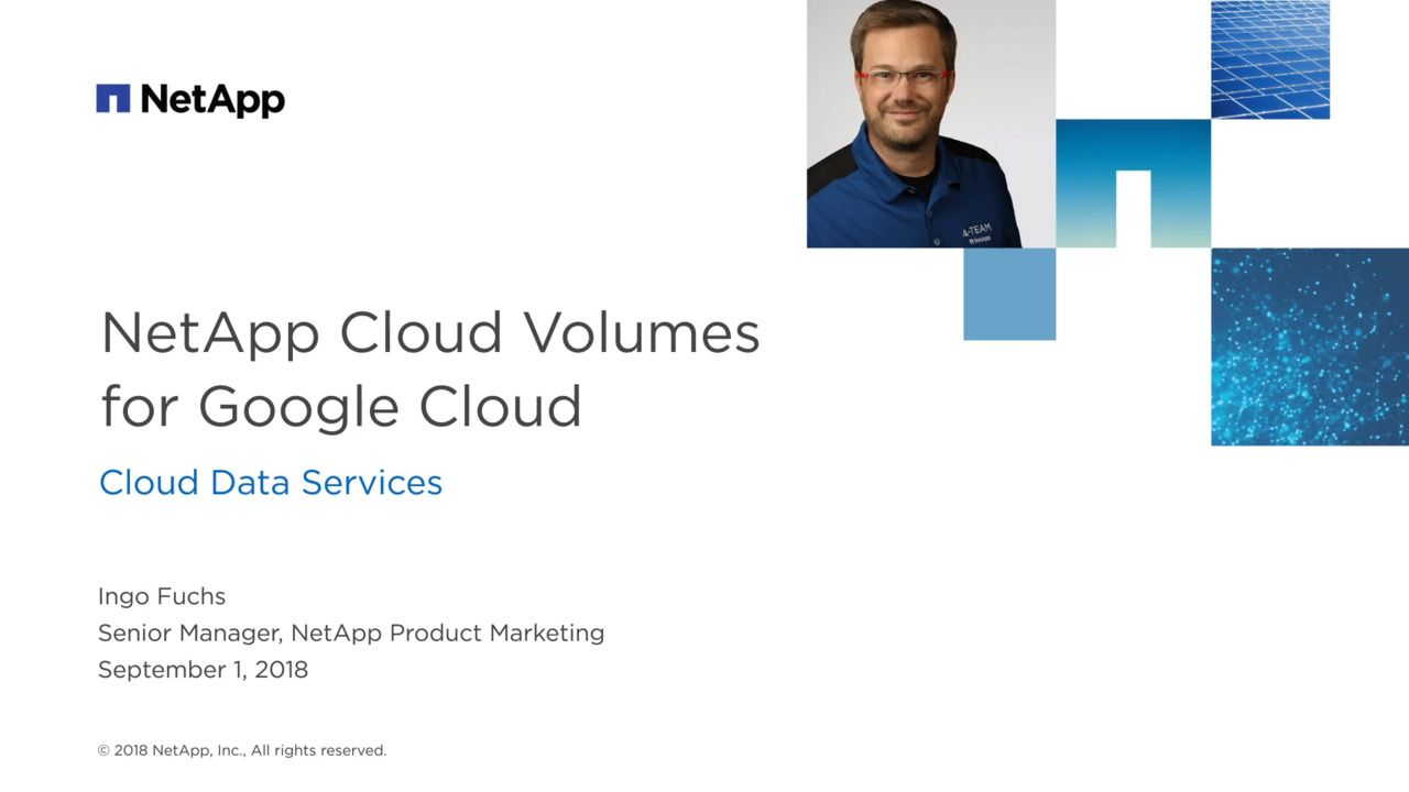 Experience NetApp Cloud Volumes on Google Cloud Platform