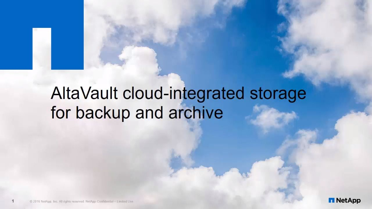 AltaVault Cloud-Integrated Storage Appliance