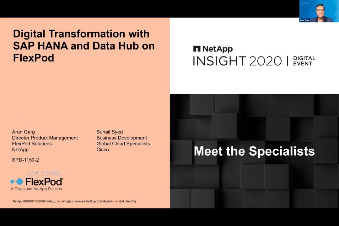 Digital Transformation With SAP HANA and Data Hub on FlexPod