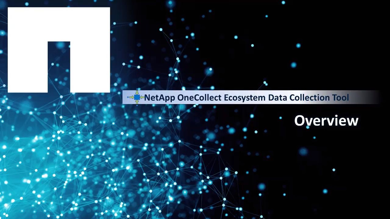 NetApp OneCollect Ecosystem Data Collection Tool