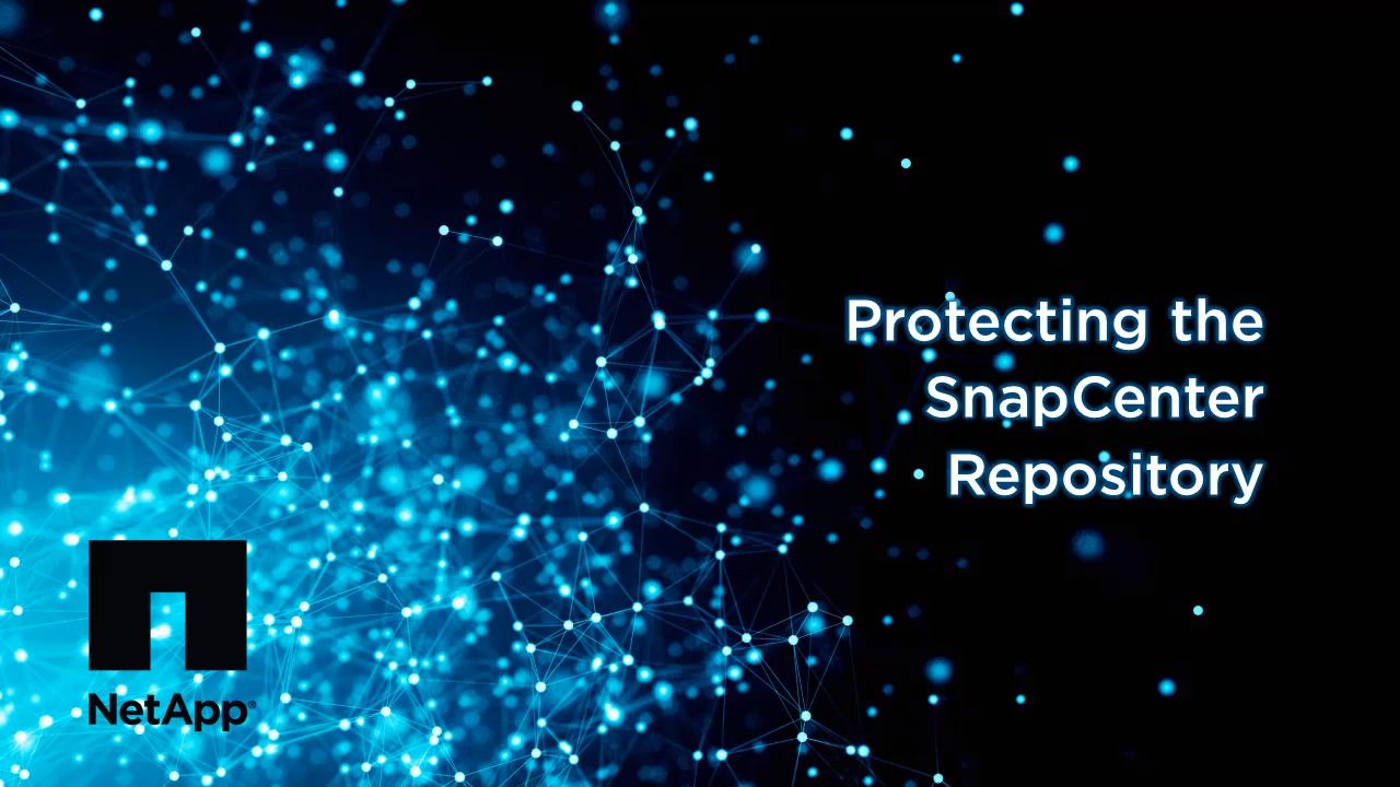 Protecting the SnapCenter Repository