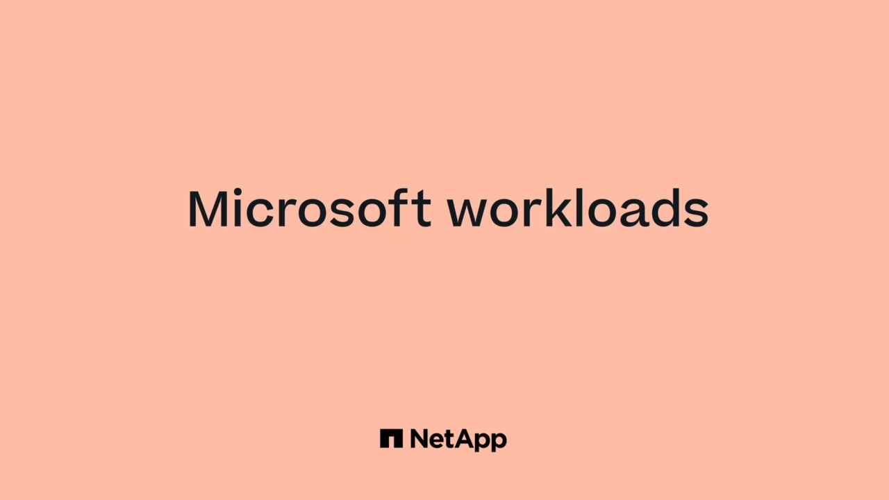 Why Run Microsoft Workloads on AWS with NetApp?