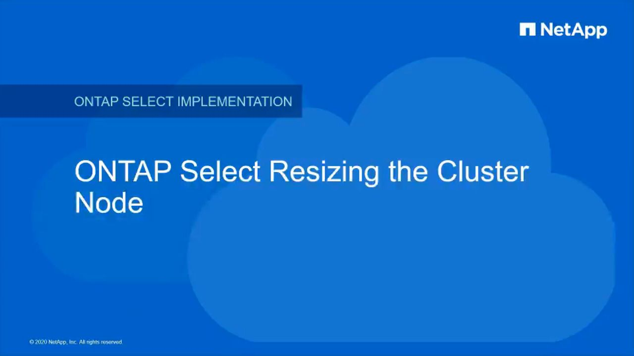 Resizing a NetApp ONTAP Select Cluster Node