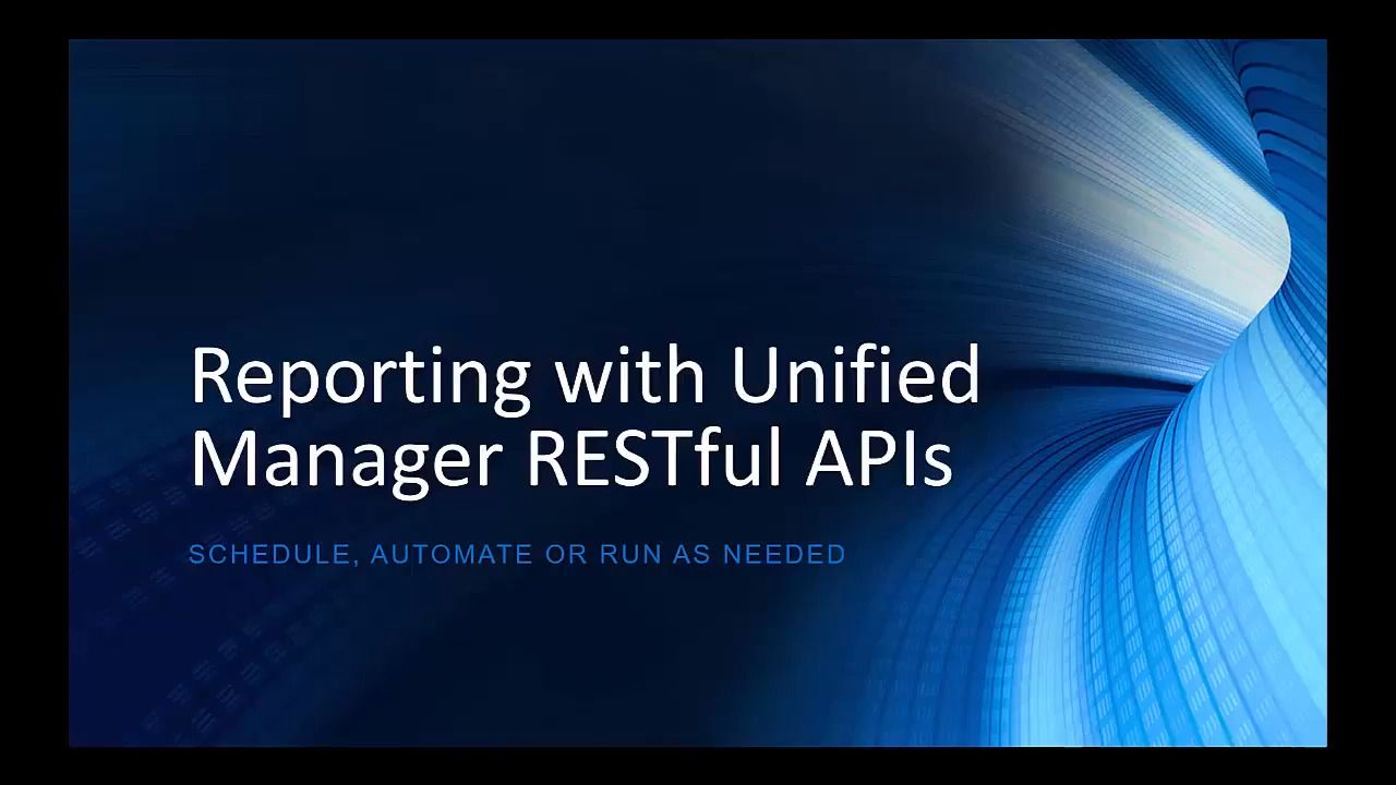 Reporting with OnCommand Unified Manager RESTful APIs