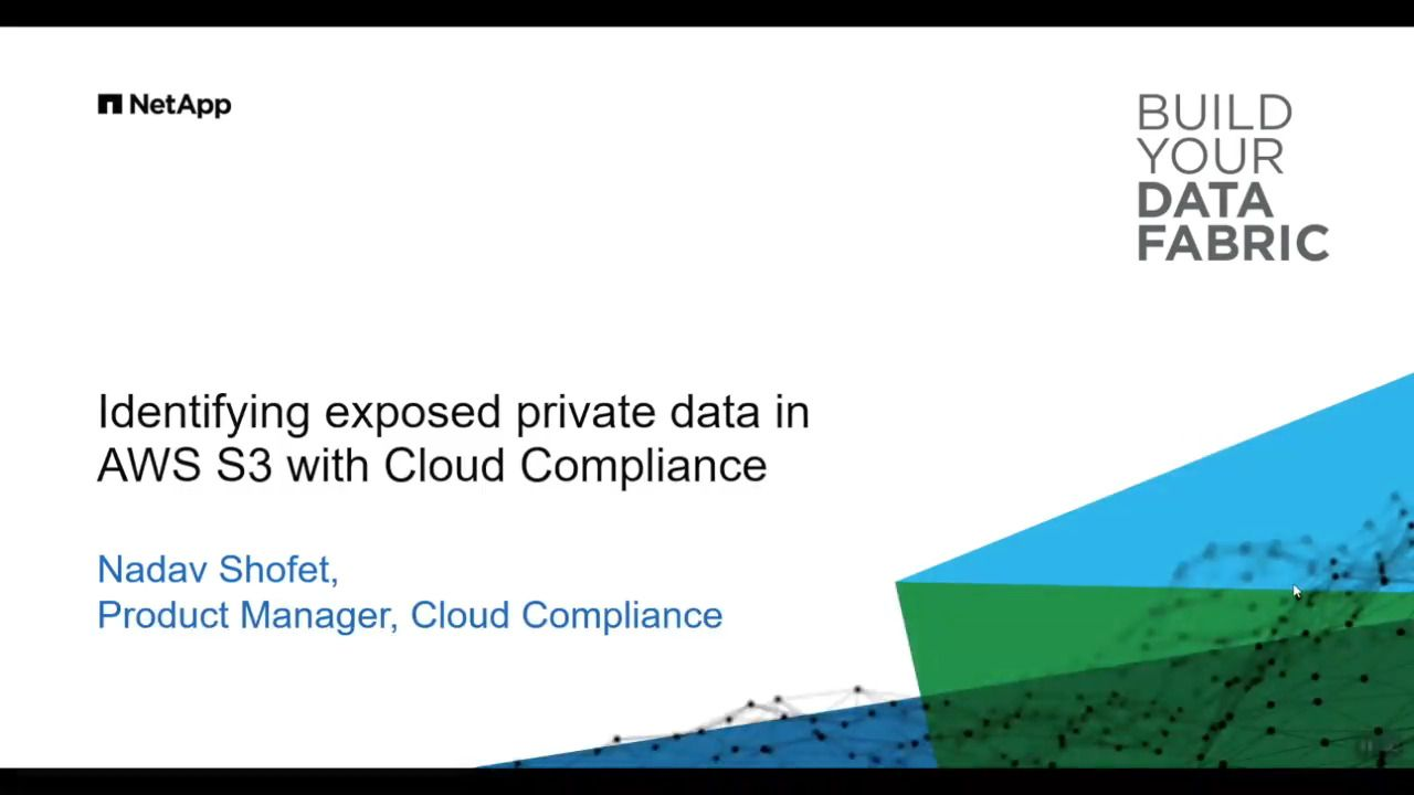 Identify Exposed Private Data in AWS S3 with Cloud Compliance from NetApp