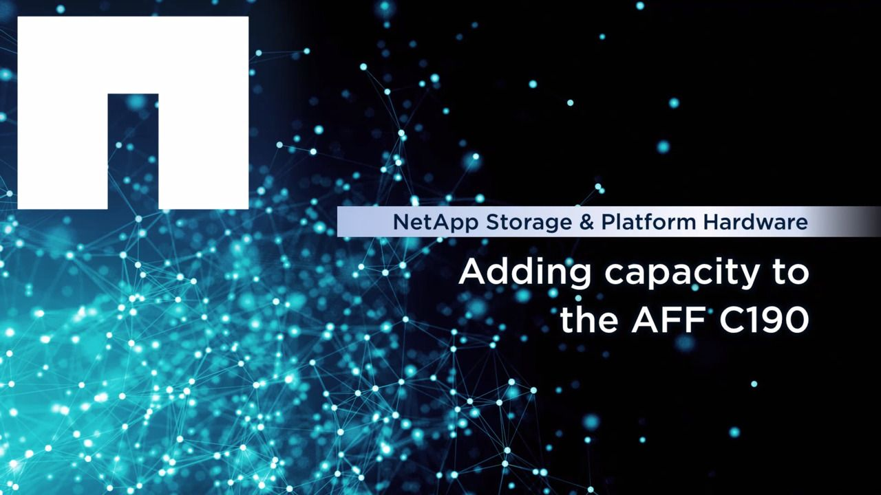 Adding Capacity to the NetApp AFF C190