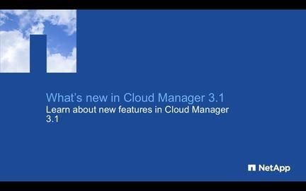 What's New in OnCommand Cloud Manager 3.1