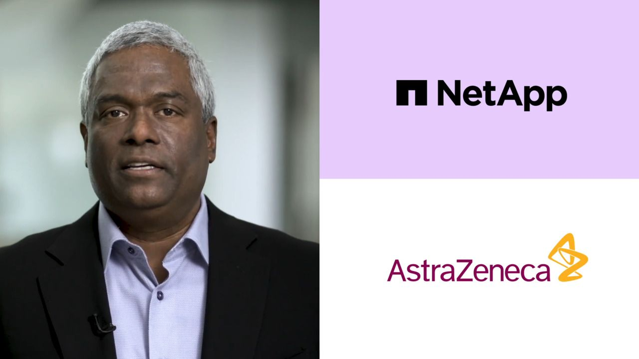 NetApp CEO George Kurian Talks with AstraZeneca - NetApp INSIGHT 2020