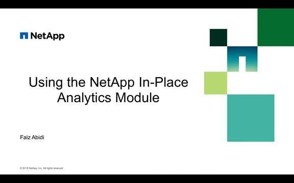 Using the NetApp In-Place Analytics Module Part 2