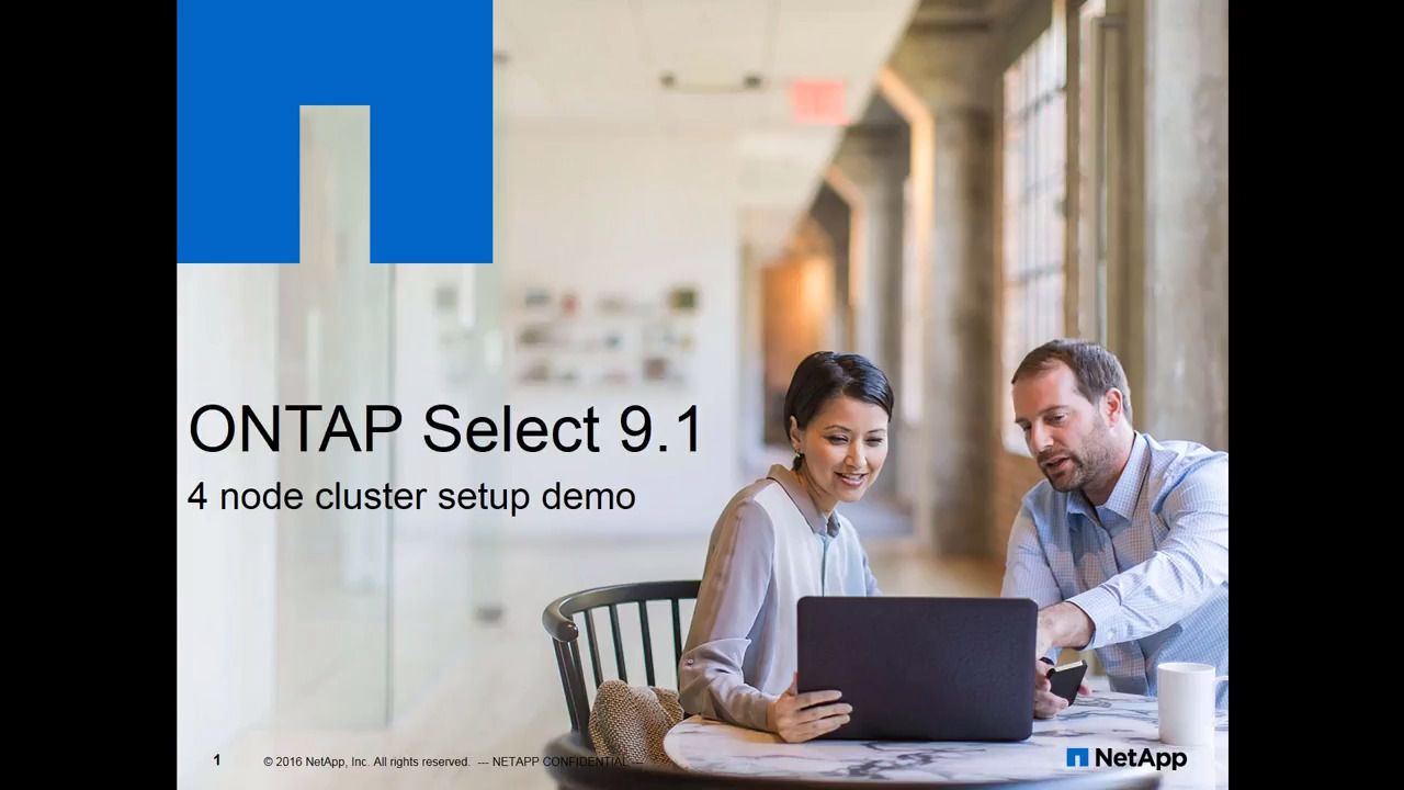 ONTAP Select 9.1 Four-Node Cluster Deployment