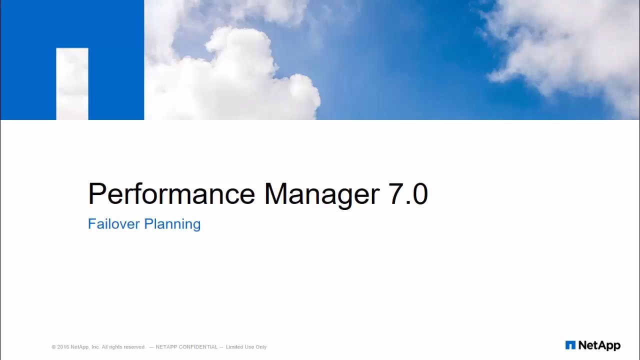 Node Failover Planning Using Performance Manager