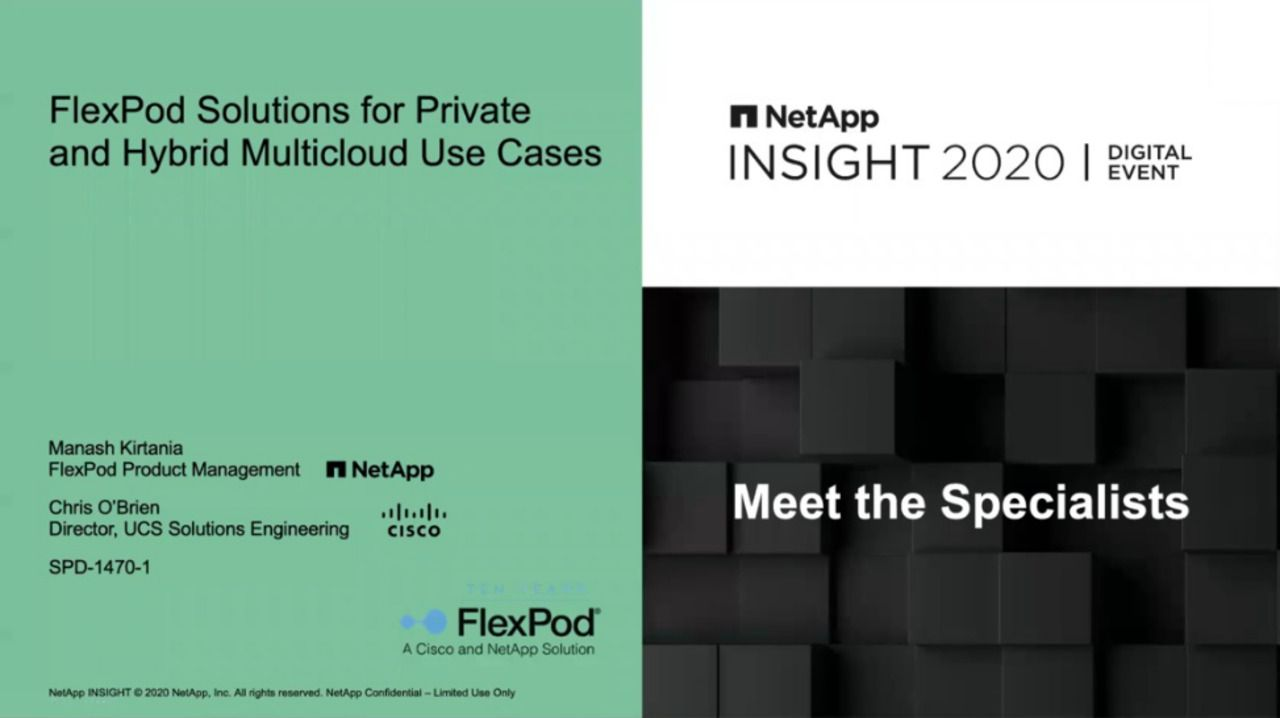 FlexPod Solutions for Private and Hybrid Multi-Cloud Use Cases