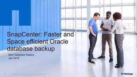 Backup of an Oracle Database Across a Hybrid Cloud Using SnapCenter