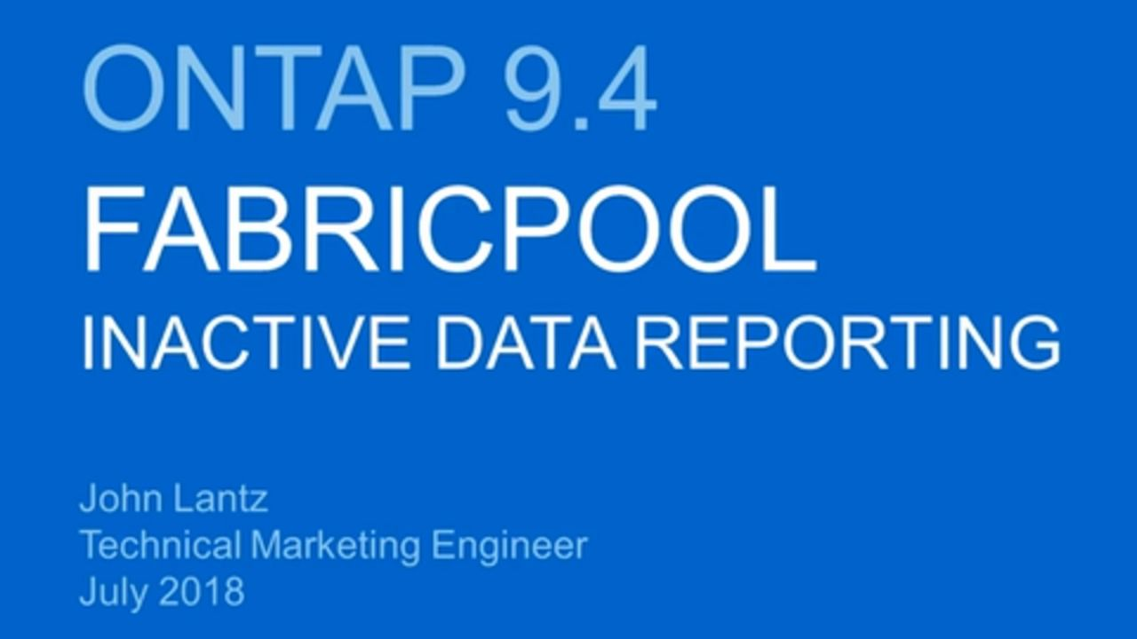FabricPool Inactive Data Reporting