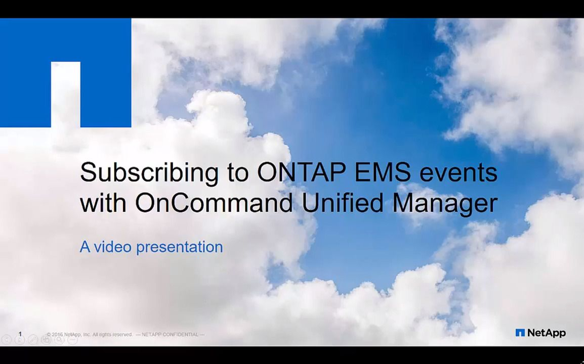 Subscribing to ONTAP EMS Events in NetApp Active IQ (formerly OnCommand) Unified Manager