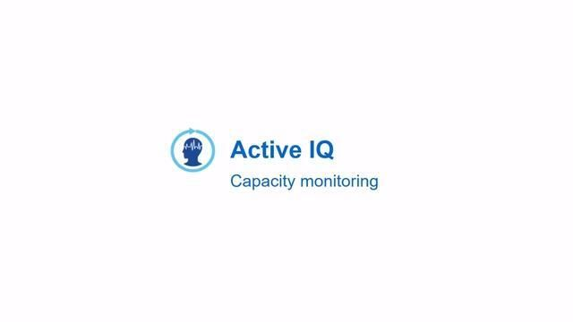 Monitoring and Predicting Capacity Using NetApp Active IQ
