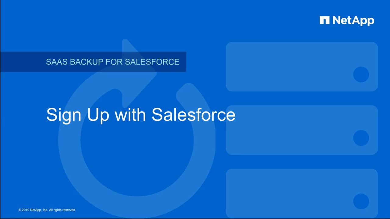 Sign up for NetApp SaaS Backup for Salesforce