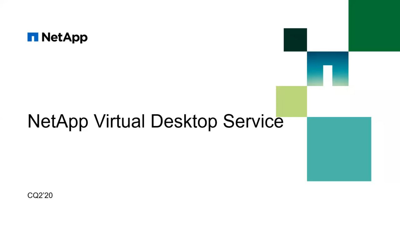 Introducing NetApp Virtual Desktop Service