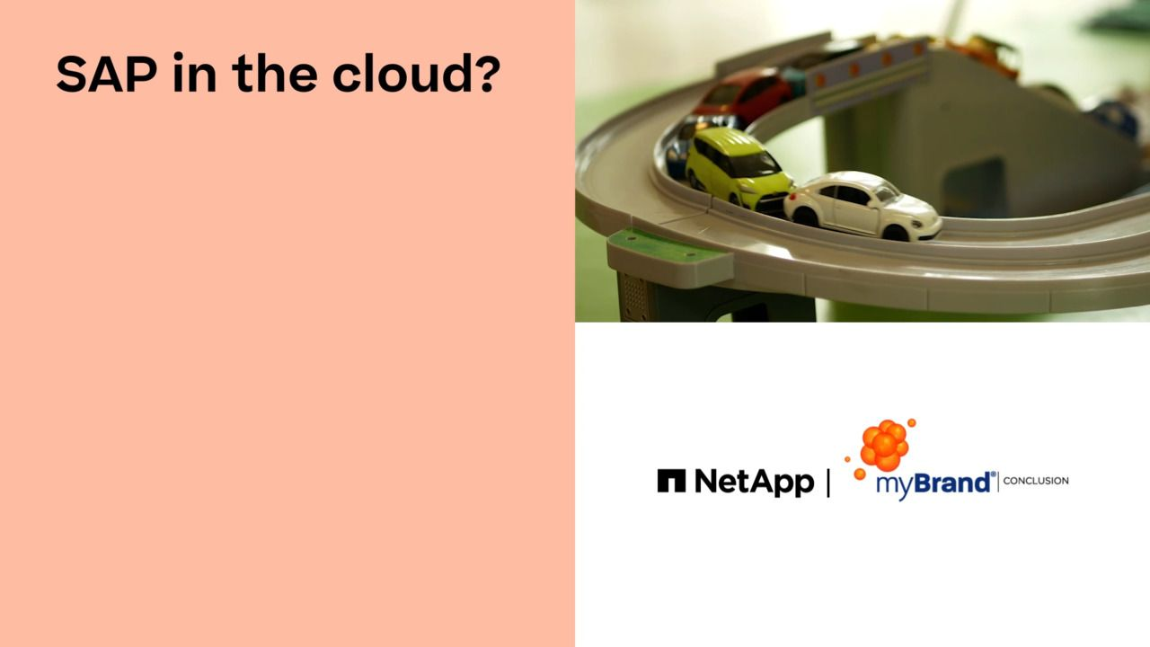 SAP in a Cloud? All Child's Play for myBrand with NetApp Cloud Volumes ONTAP