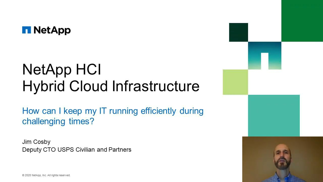 NetApp Hybrid Cloud Infrastructure (HCI) for Telework