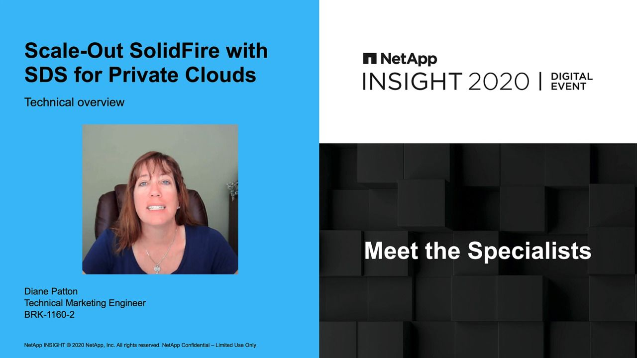 Scale-Out NetApp SolidFire with SDS for Private Clouds
