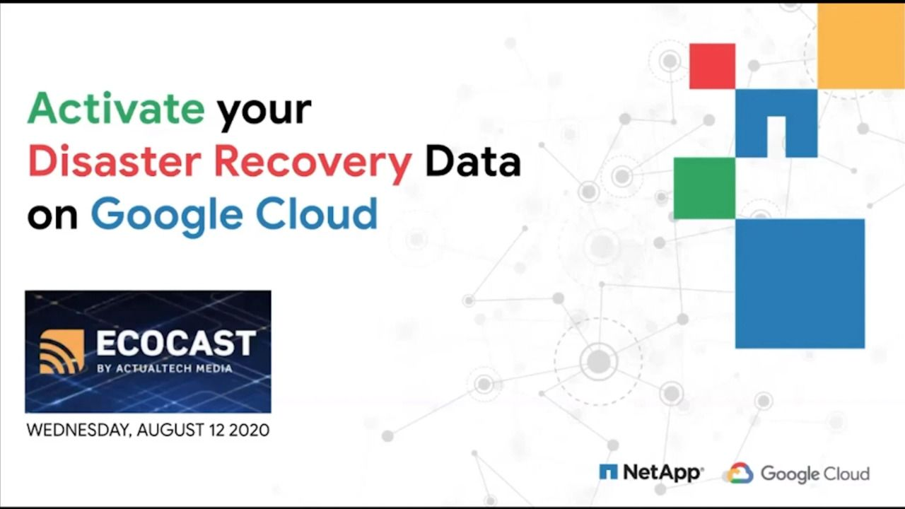 Back Up and Disaster Recovery with NetApp Cloud Volumes Service for Google Cloud