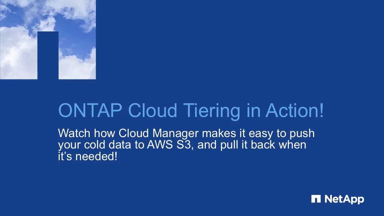Tiering ONTAP Cloud data to AWS S3