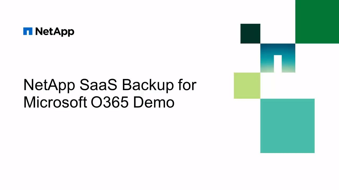 NetApp SaaS Backup for Microsoft Office 365