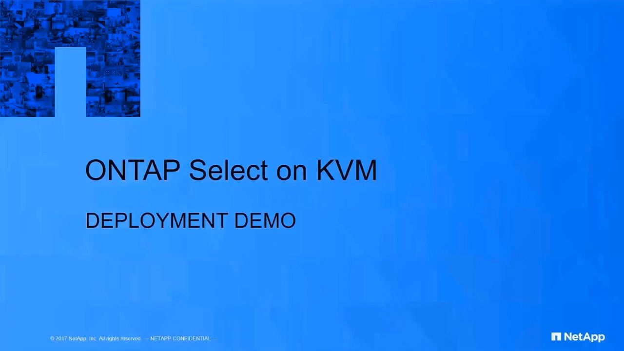 ONTAP Select Deployment on KVM