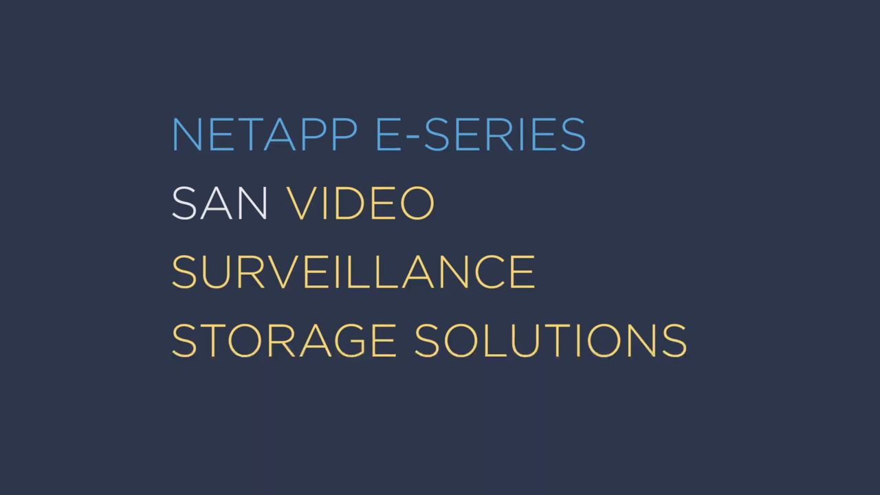 SAN Versus NAS for Video Surveillance Storage