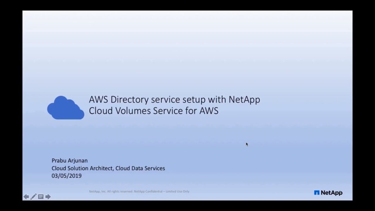Setting Up AWS Directory Service with NetApp Cloud Volumes Service for AWS