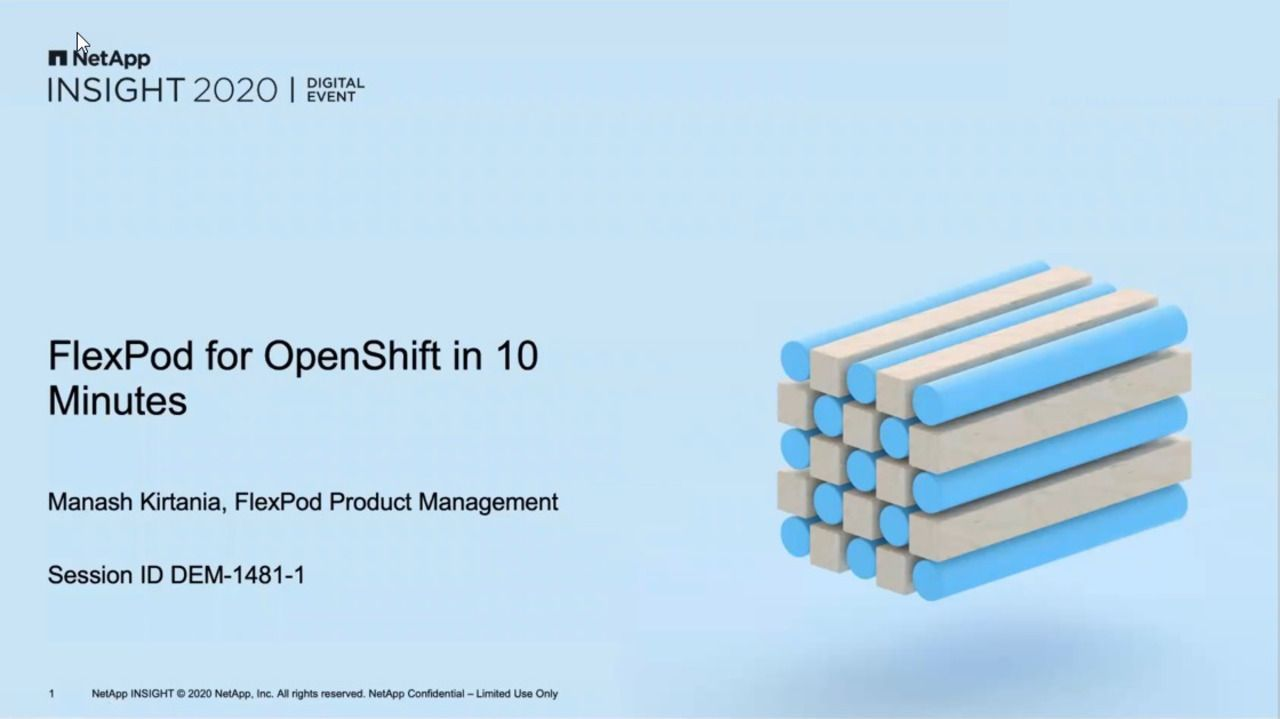 FlexPod for OpenShift in 10 Minutes