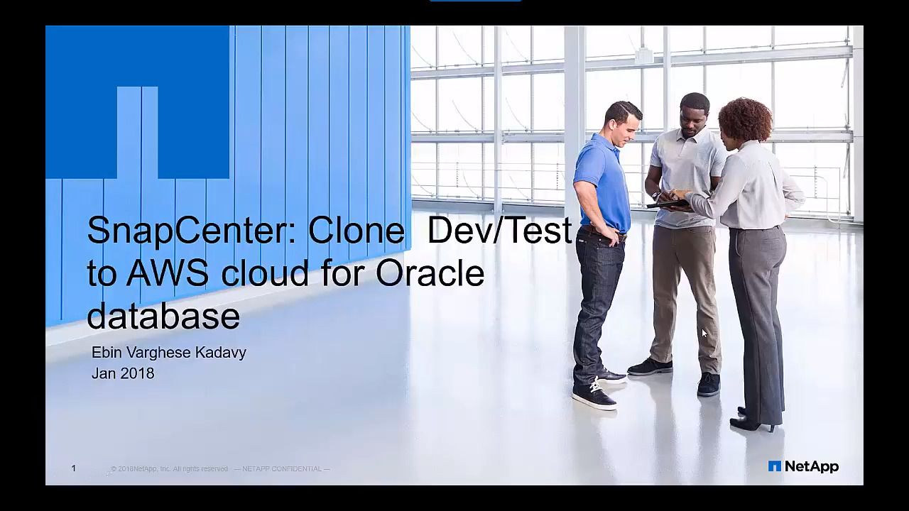 SnapCenter - Clone DEV-TEST to AWS Cloud for an Oracle Database