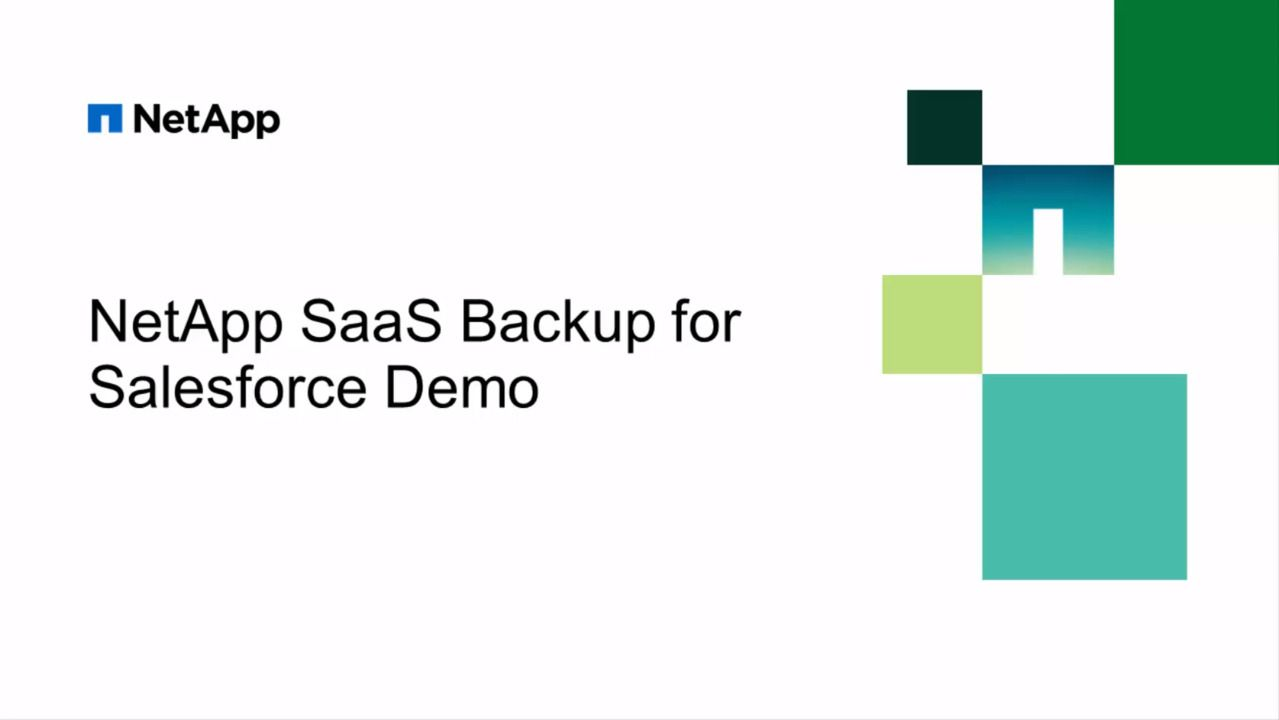 NetApp SaaS Backup for Salesforce