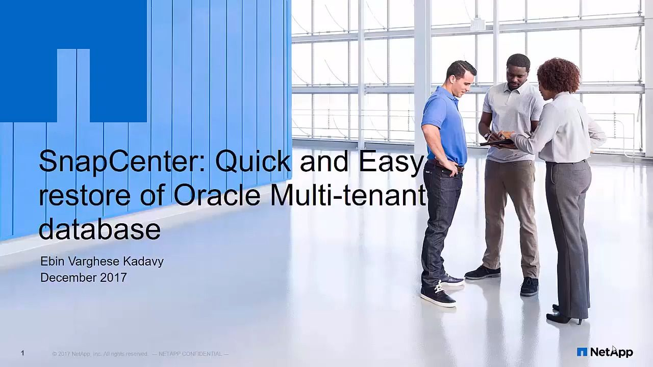 Quick and Easy Restore of Oracle Multi-tenant Database Using NetApp SnapCenter