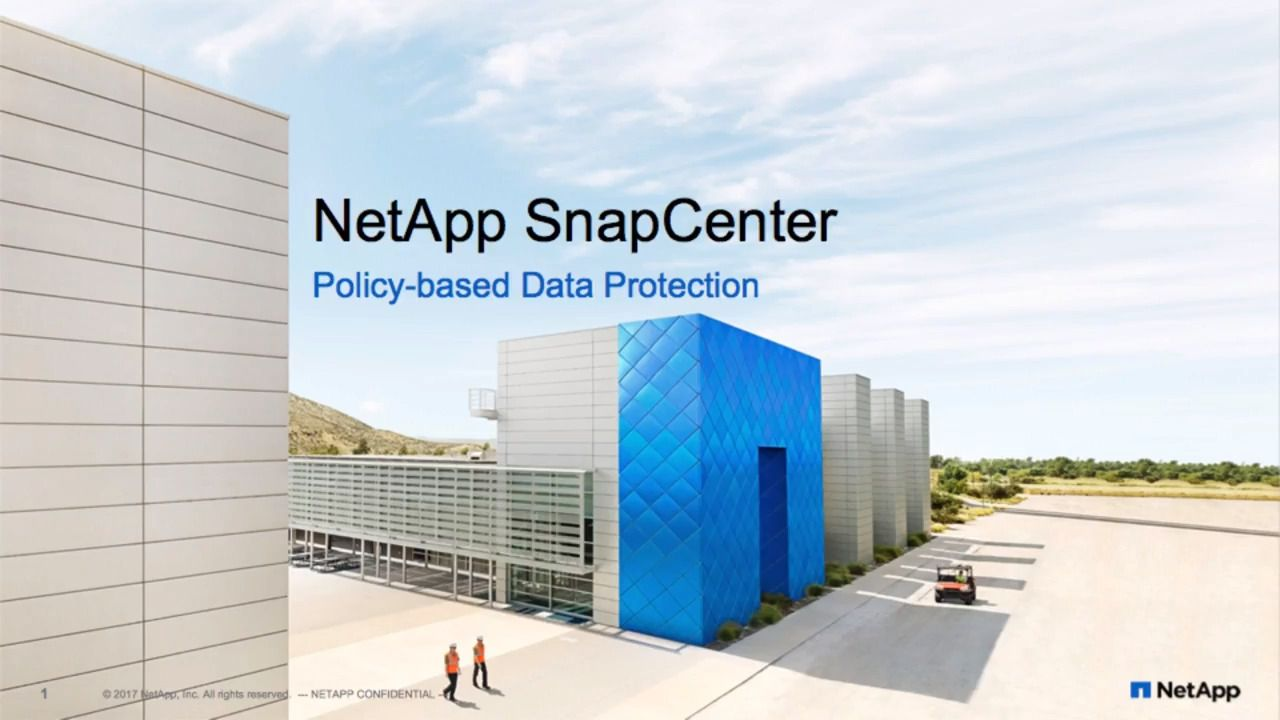 SnapCenter Policy-Based Data Protection