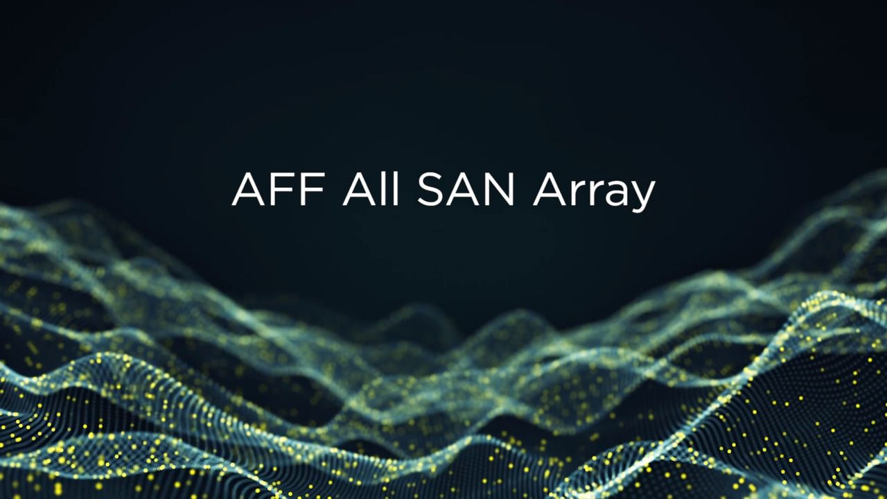 NetApp AFF All SAN Array