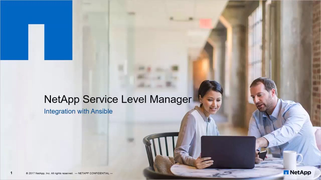 Storage Provisioning Using Ansible with NetApp Service Level Manager Integration