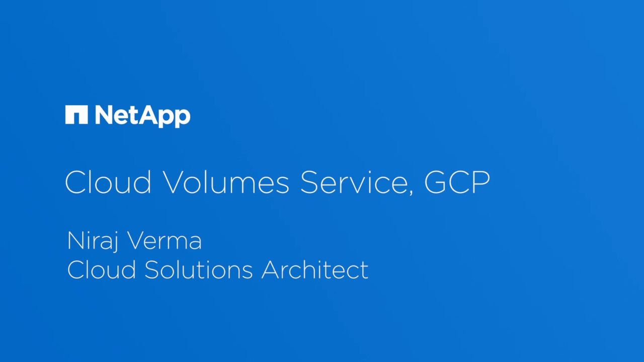 What's New in the Beta Release of Cloud Volumes Service for GCP?
