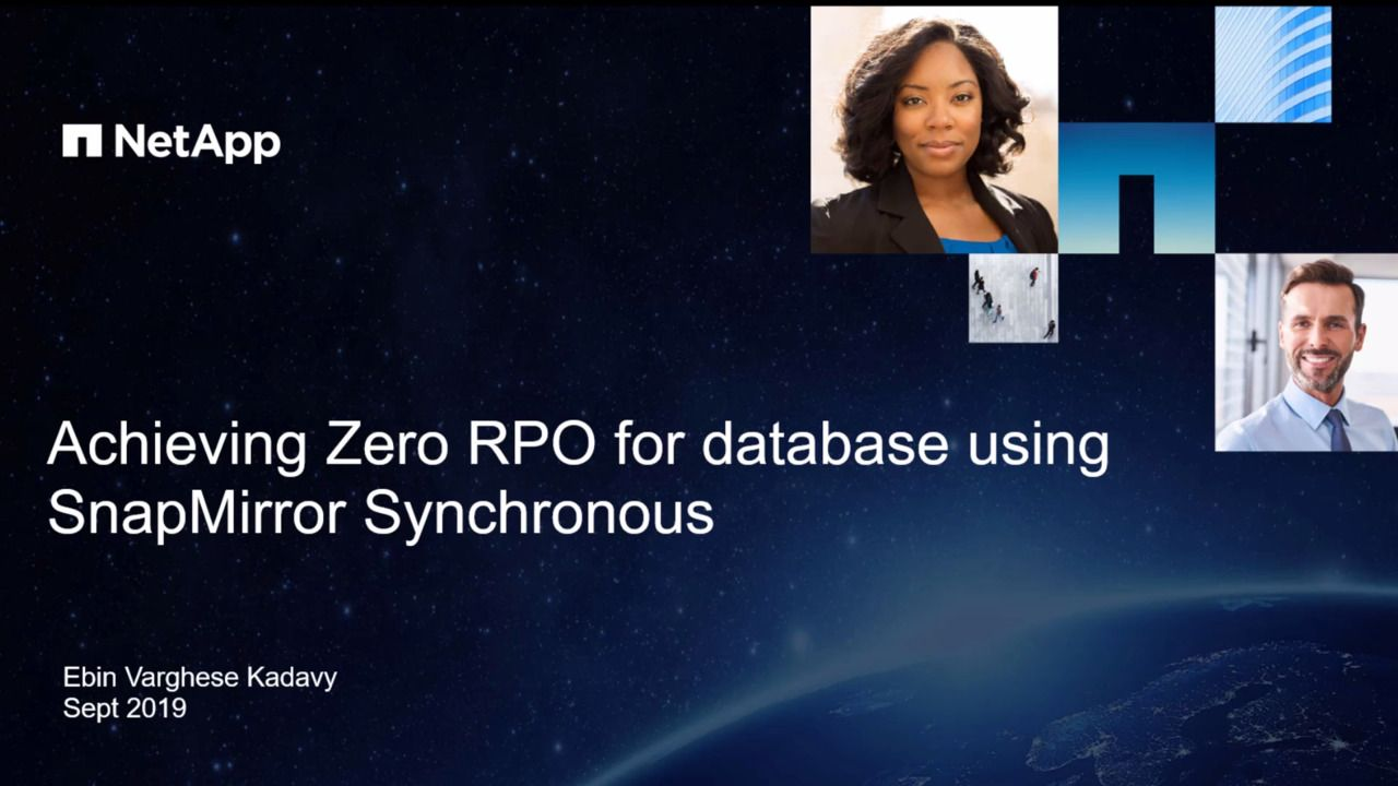 Achieving Zero RPO for Oracle Databases Running on NetApp Storage