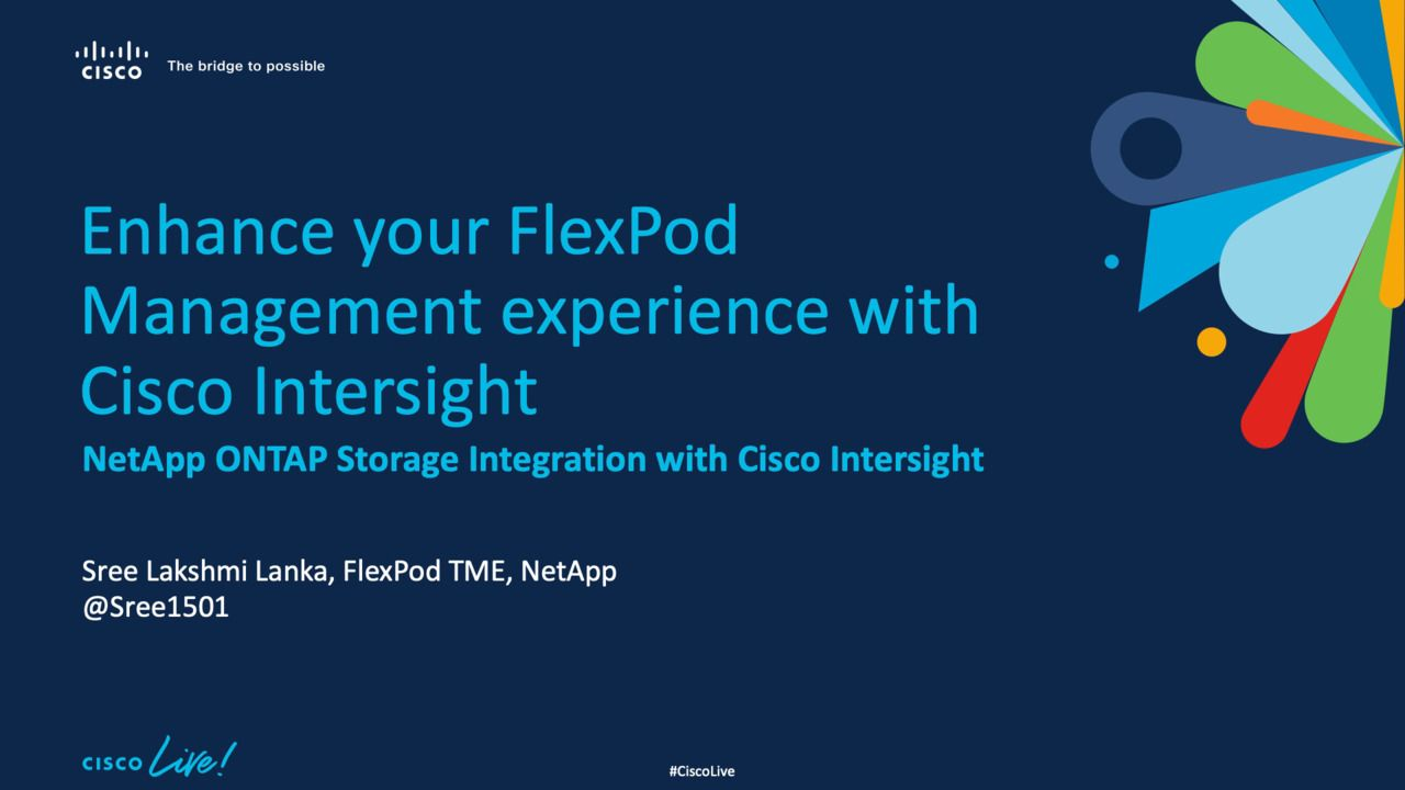 Enhance Your FlexPod Management Experience with Cisco Intersight