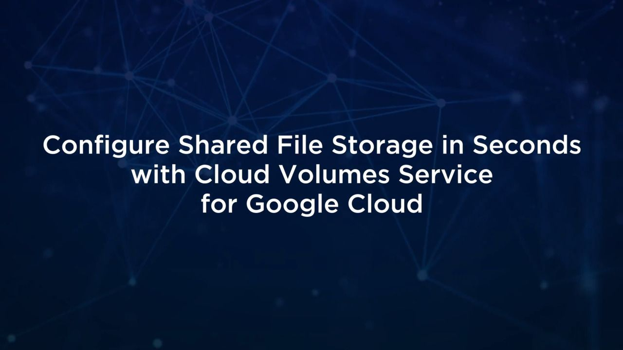 Configure Shared File Storage in Seconds