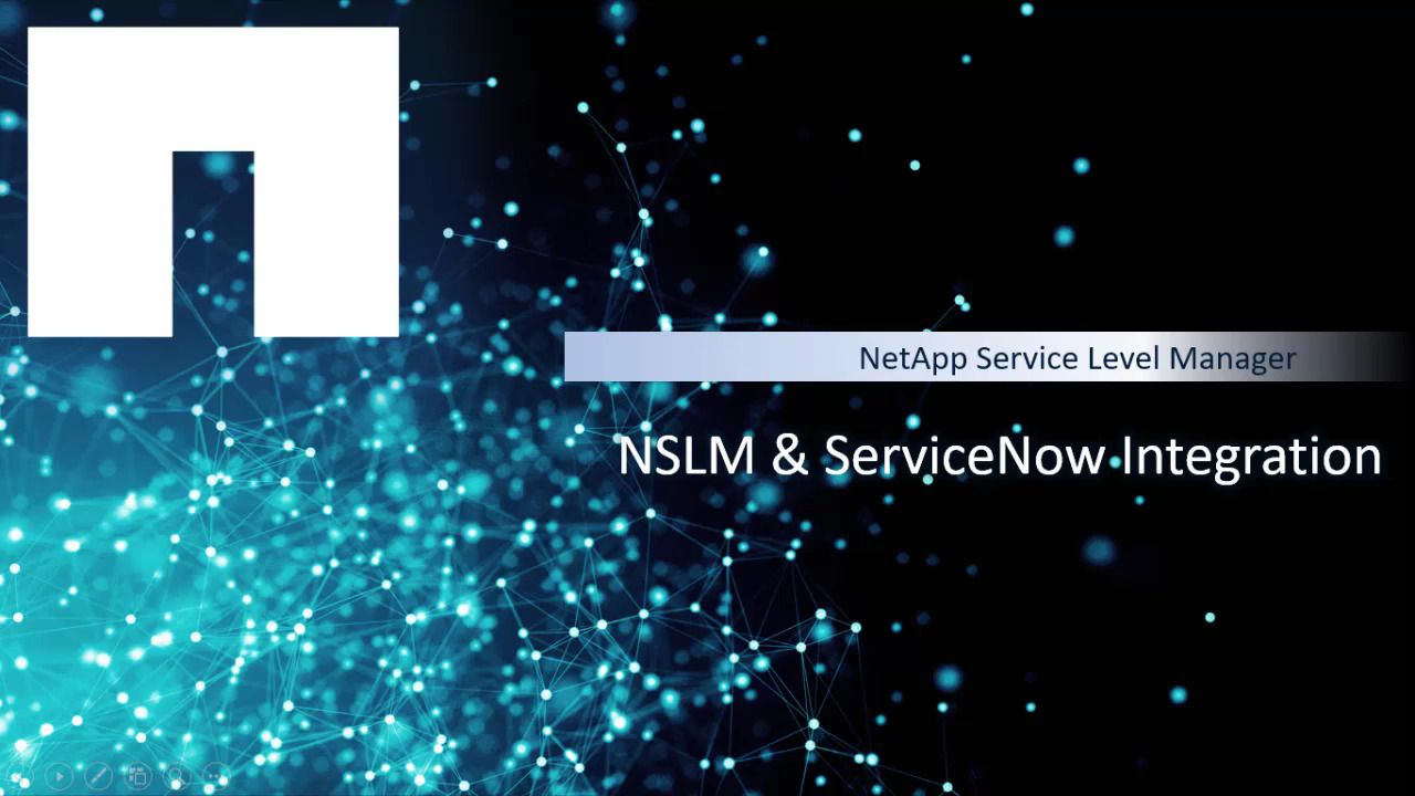 NetApp Service Level Manager and ServiceNow Integration